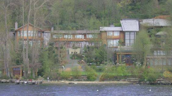 Bill Gates House- View from lake 3
