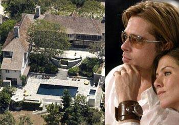 Jennifer Aniston and Brad Pitt House
