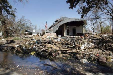 Home destroyed by Hurricane Katrina