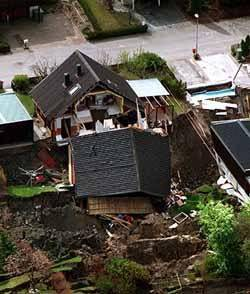 Home destroyed by Landslide