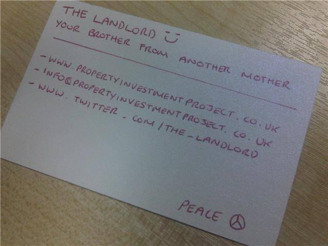 Property Investment Project Business Card