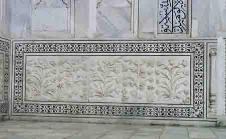 Taj Mahal Carved Stone