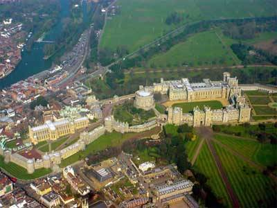 Windsor Castle Birds Eye View