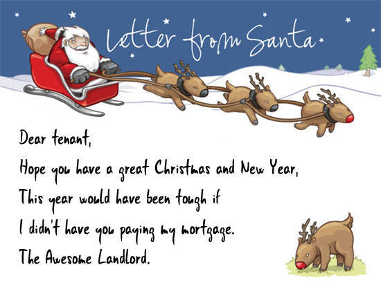 Shit You Shouldn't Write In Your Tenant's Christmas Card