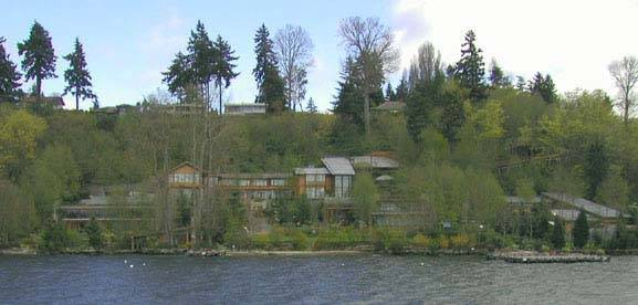 Bill Gates House- View from lake 4