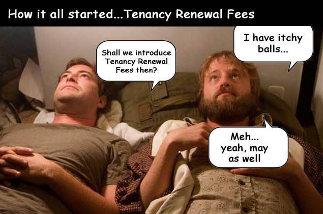 The Origins Of Tenancy Renewal Fees