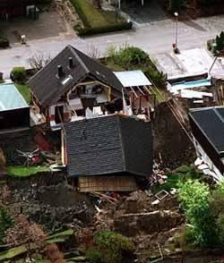 Home destroyed by Landslide