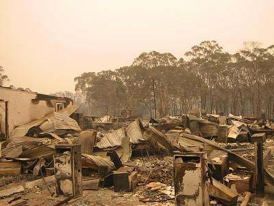 Home destroyed by Bushfire
