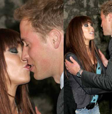 Prince William Kissing