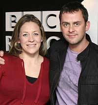 Sarah Beeny and Scott Mills