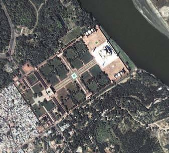 Taj Mahal Birdeye View