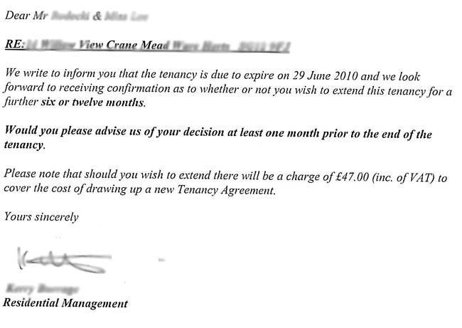 Sample Lease Termination Letter To Tenant: How Tenants Can Avoid Paying A Tenancy Renewal Fee