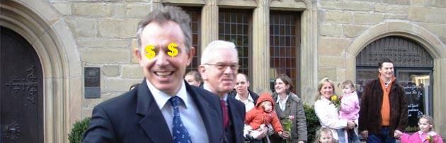 Wealthy Tony Blair