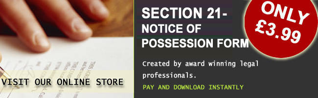 Buy A Section 21 - Notice Of Possession Form