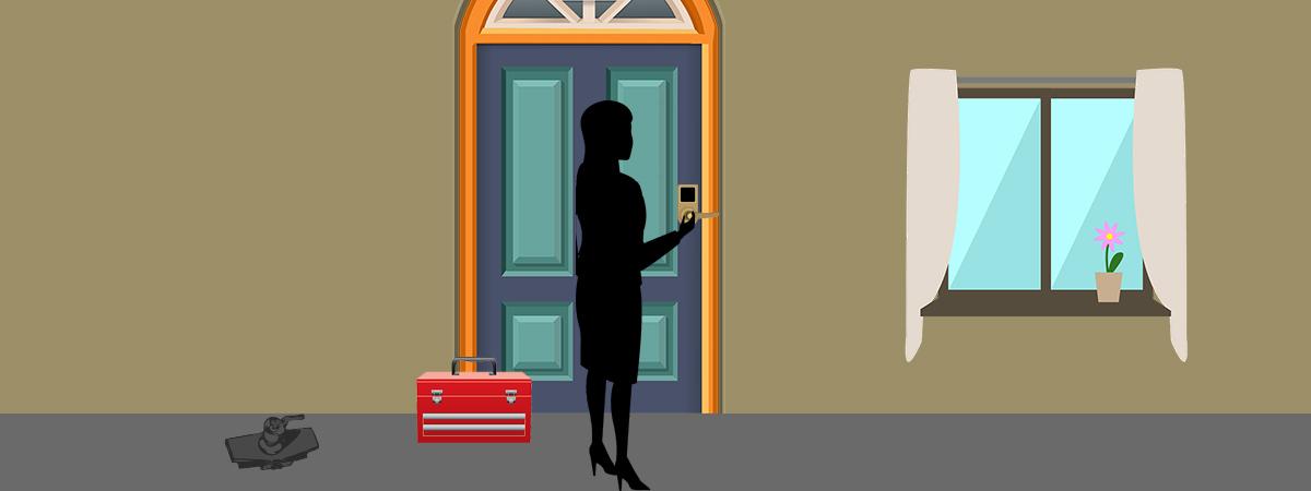 Tenant Changing Door Lock
