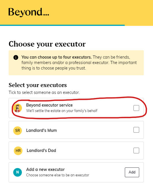 Beyond Wills - Choose your Executors