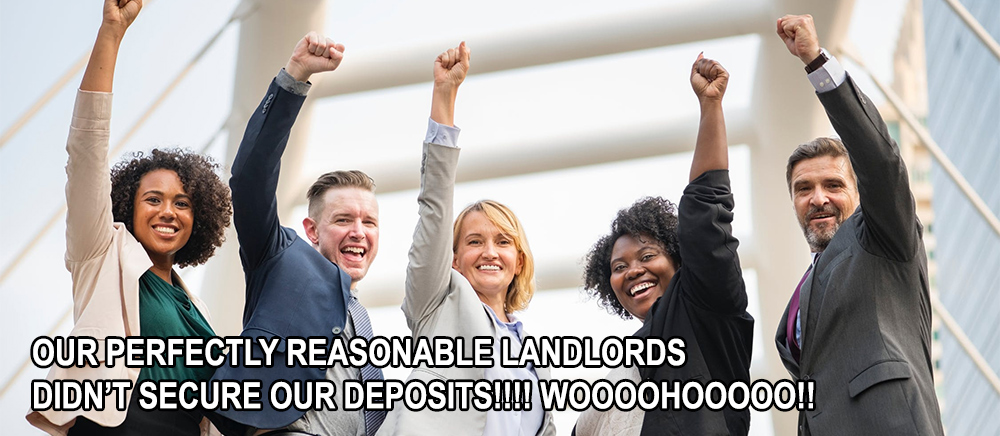 Celebrating tenancy deposits