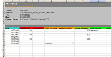 free landlord expenses spreadsheet calculating profit loss