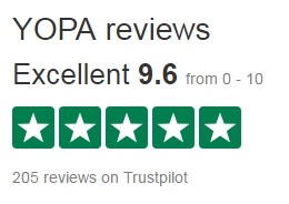 Yopa TrustPilot Score
